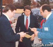 <b>Al Gore</b> with Timothy Phelps and <b>Fred Phelps</b>, Jr.
